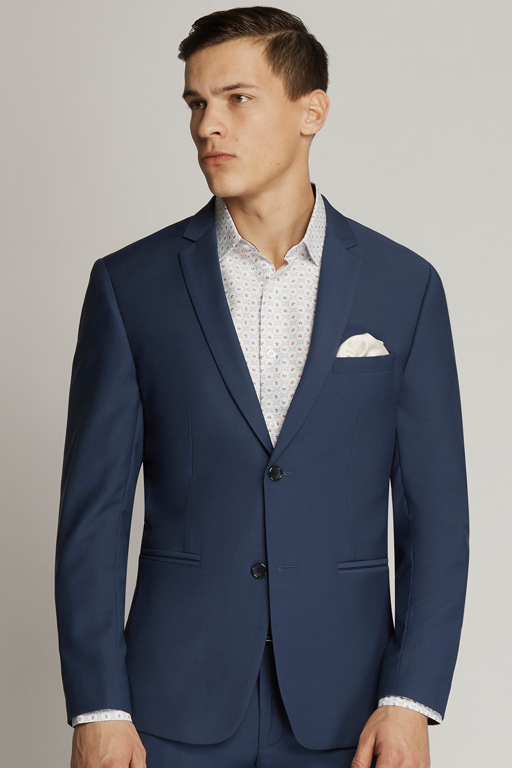 French Blue Suit