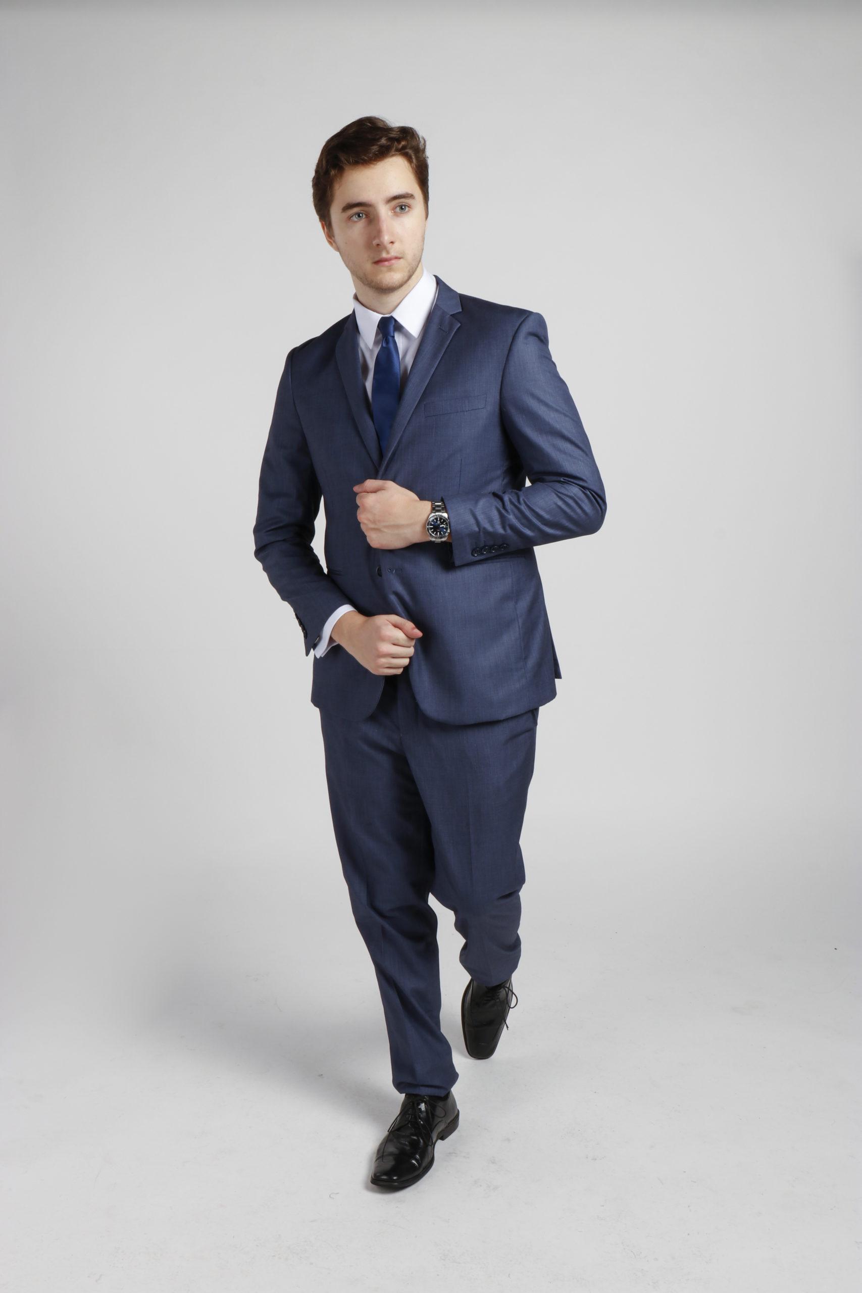 Platinum Blue Suit