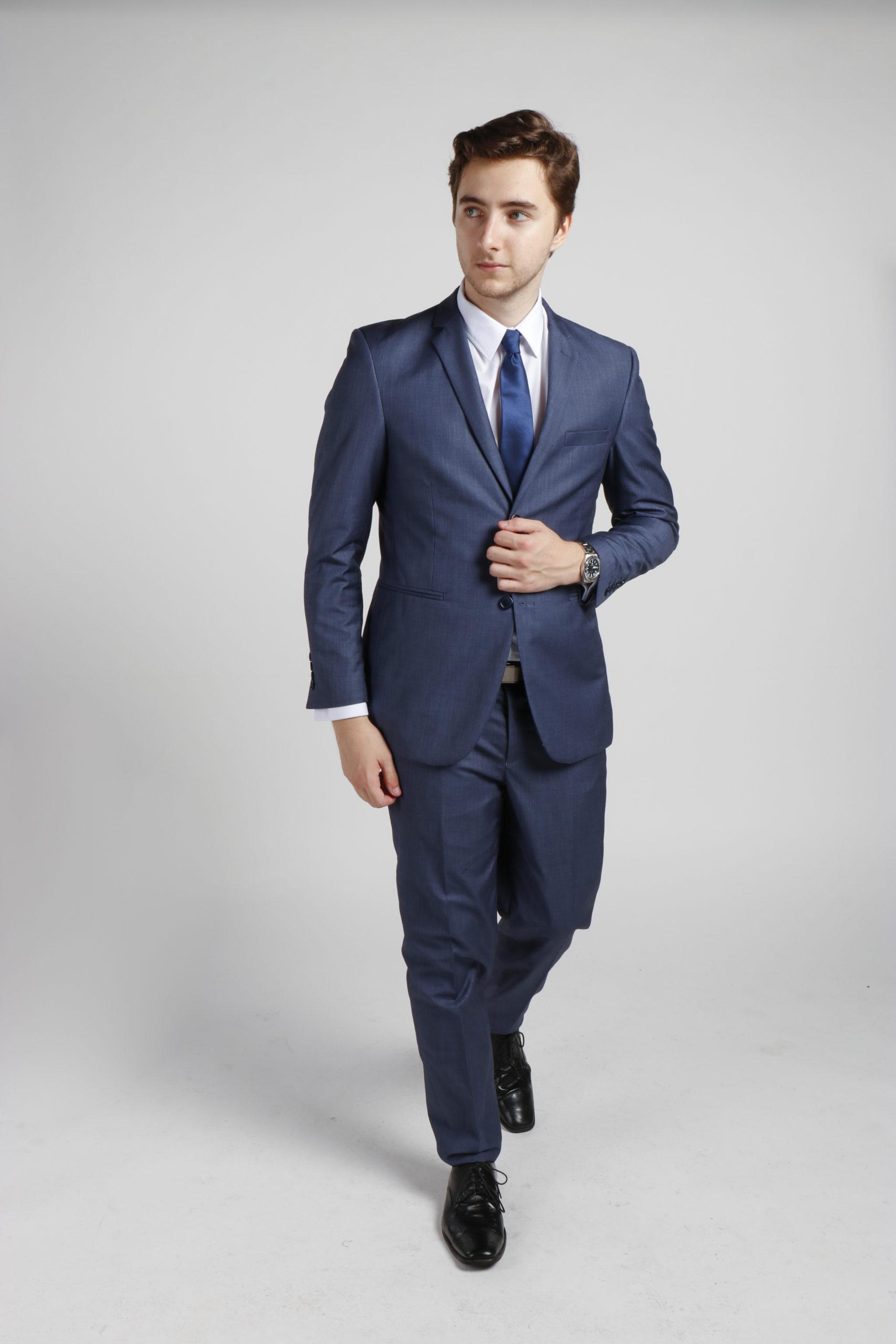 Platinum Blue Suit Hire